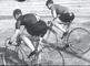 Three cycling champions at the cycling track